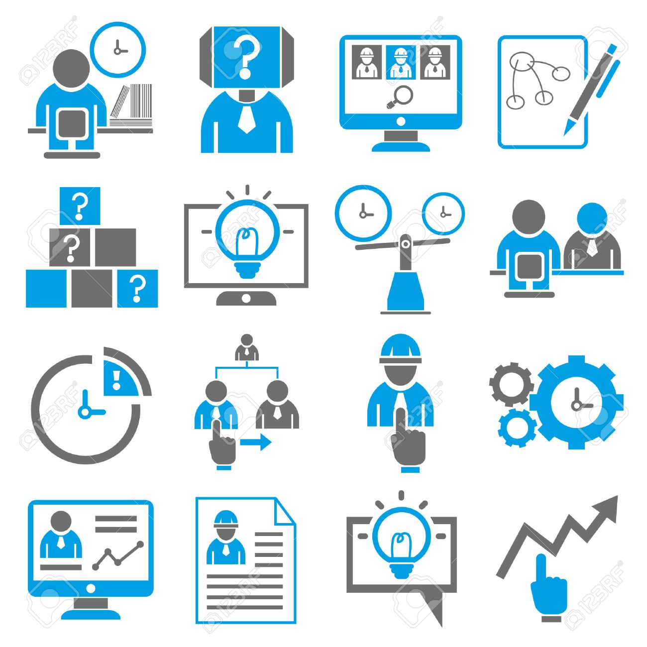 business icons, human resource management icons Stock Vector - 23521292