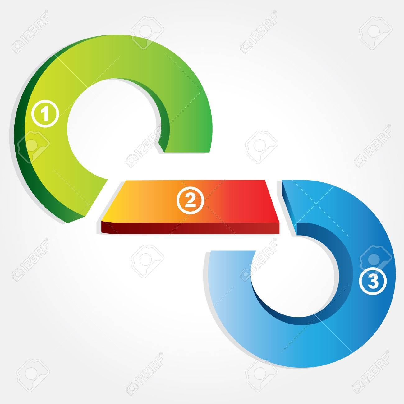 business process flow presentation, circular loop diagram Фото со стока -  24468315