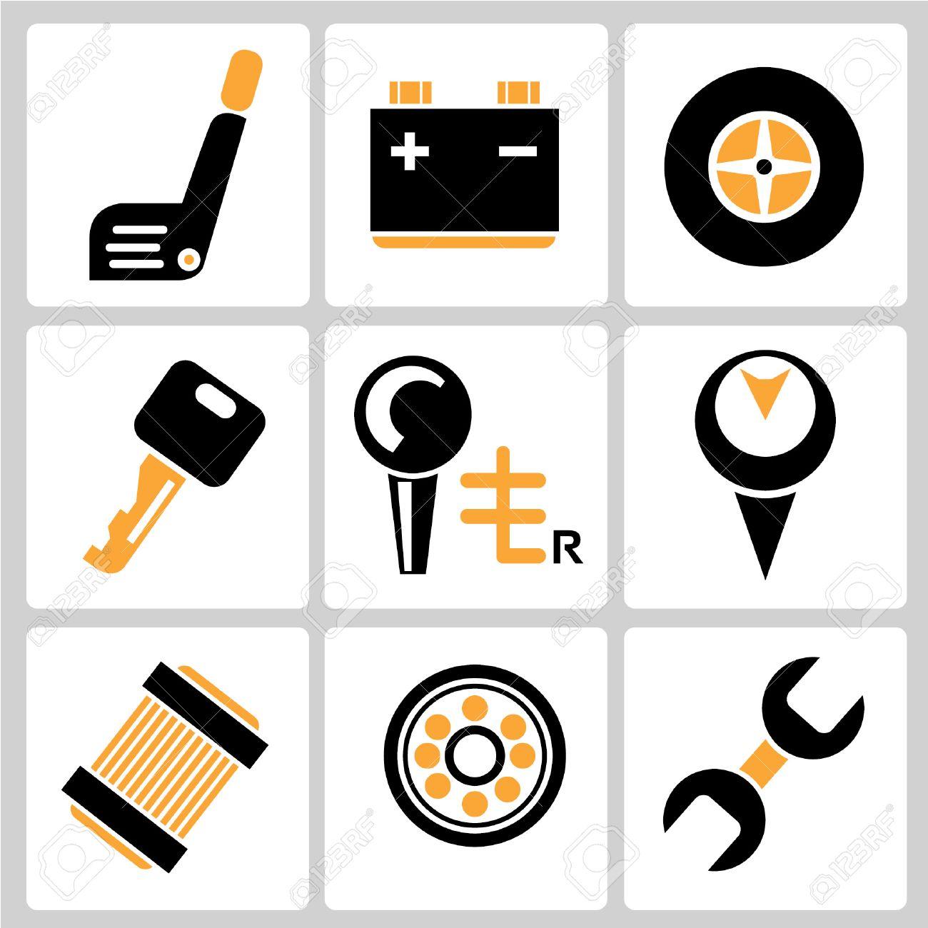 garage icons auto service icons car parts royalty free cliparts rh 123rf com Transportation Clip Art Assembly Clip Art