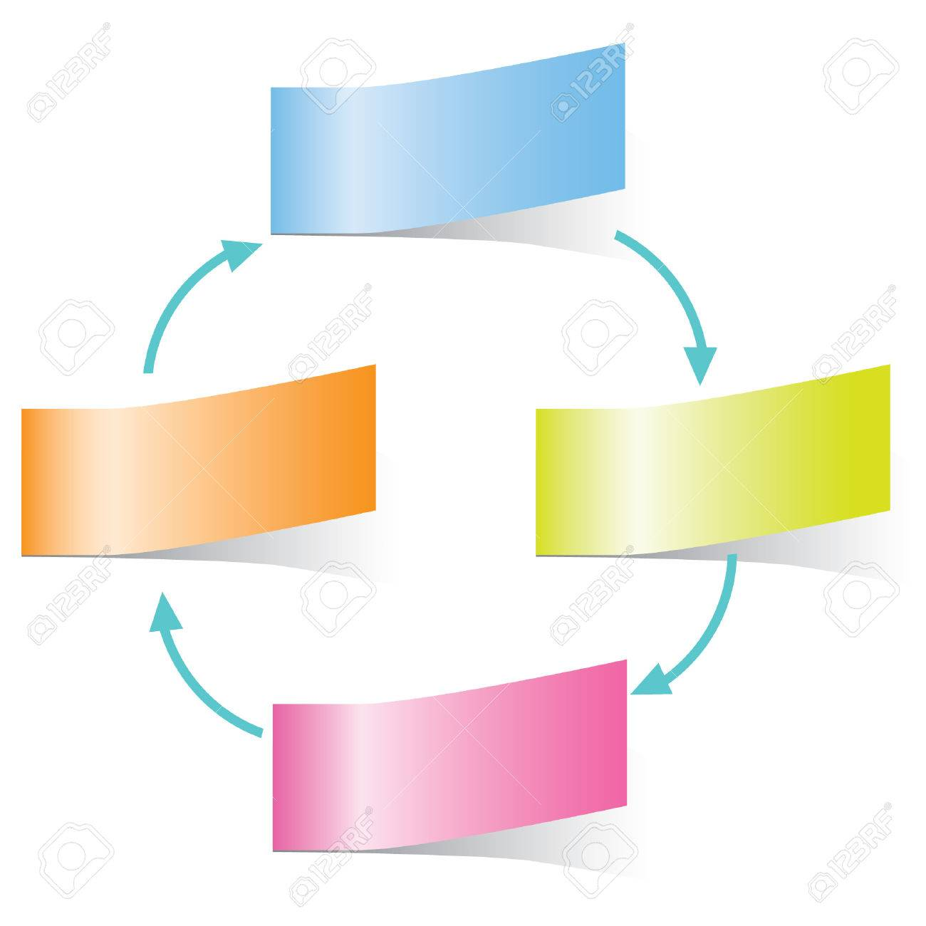 Sticky Note Diagram, Template Stock Vector   26229200