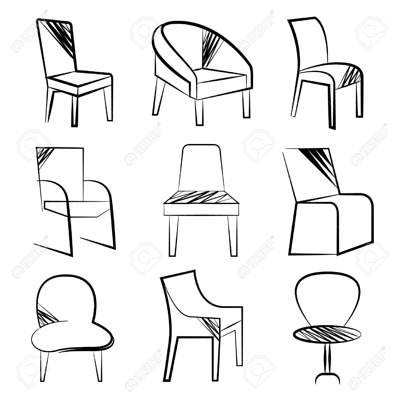 chair drawing easy delighful easy e 3087 how to draw armchair easy