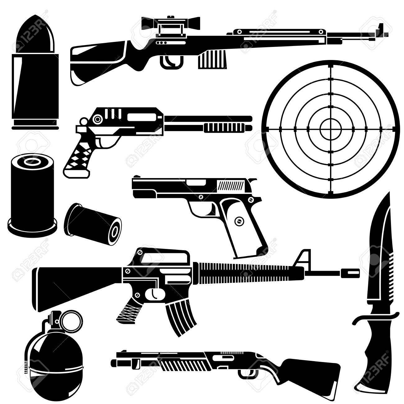 gun and weapon - 32924070