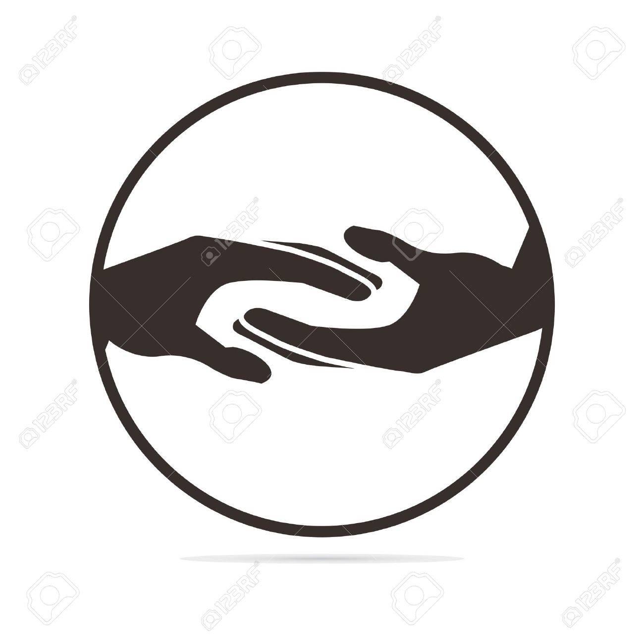 helping hands illustration - 38415743