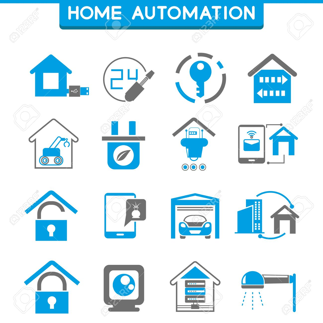 Smart House smart house icons royalty free cliparts vectors and stock