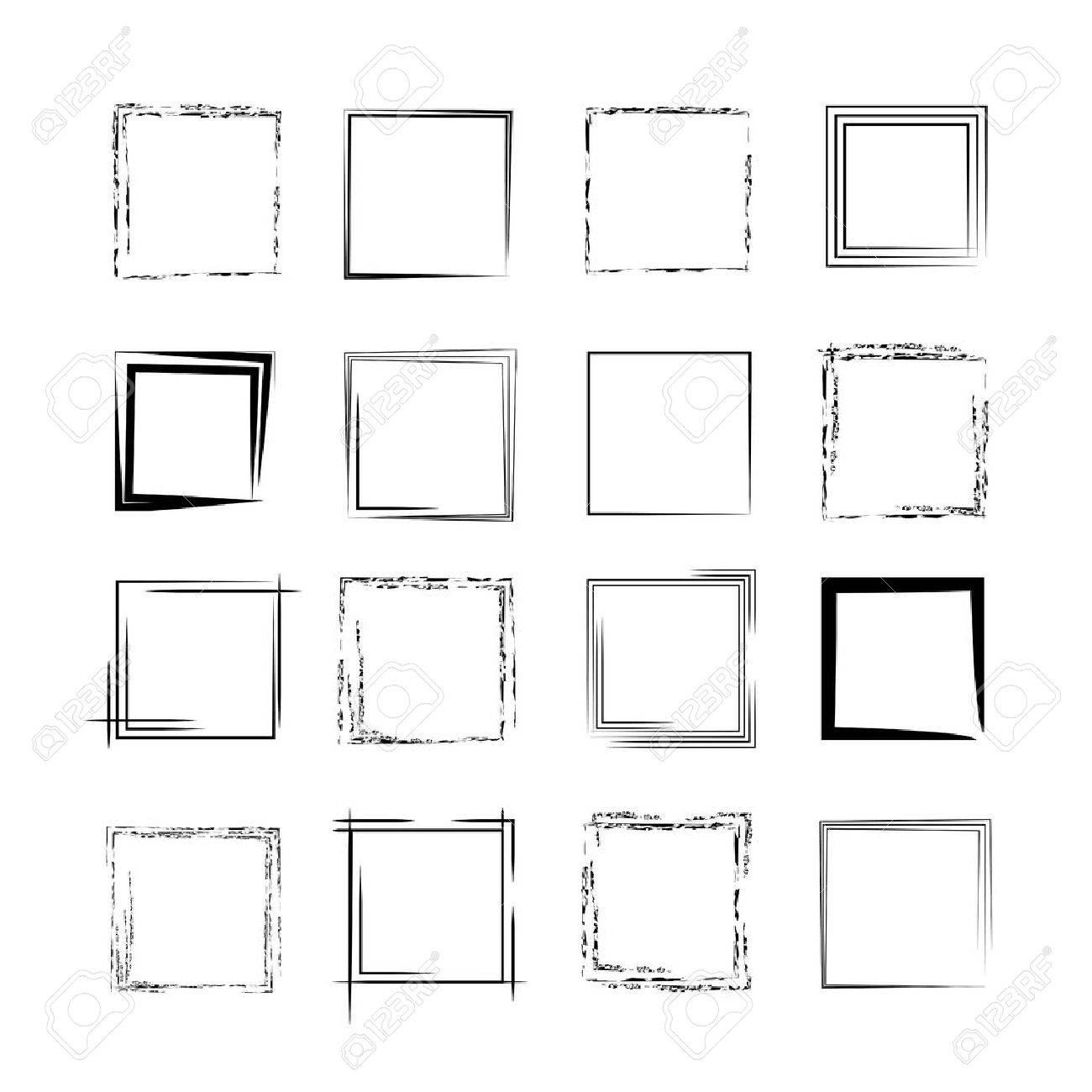 grunge frames, borders - 44504721