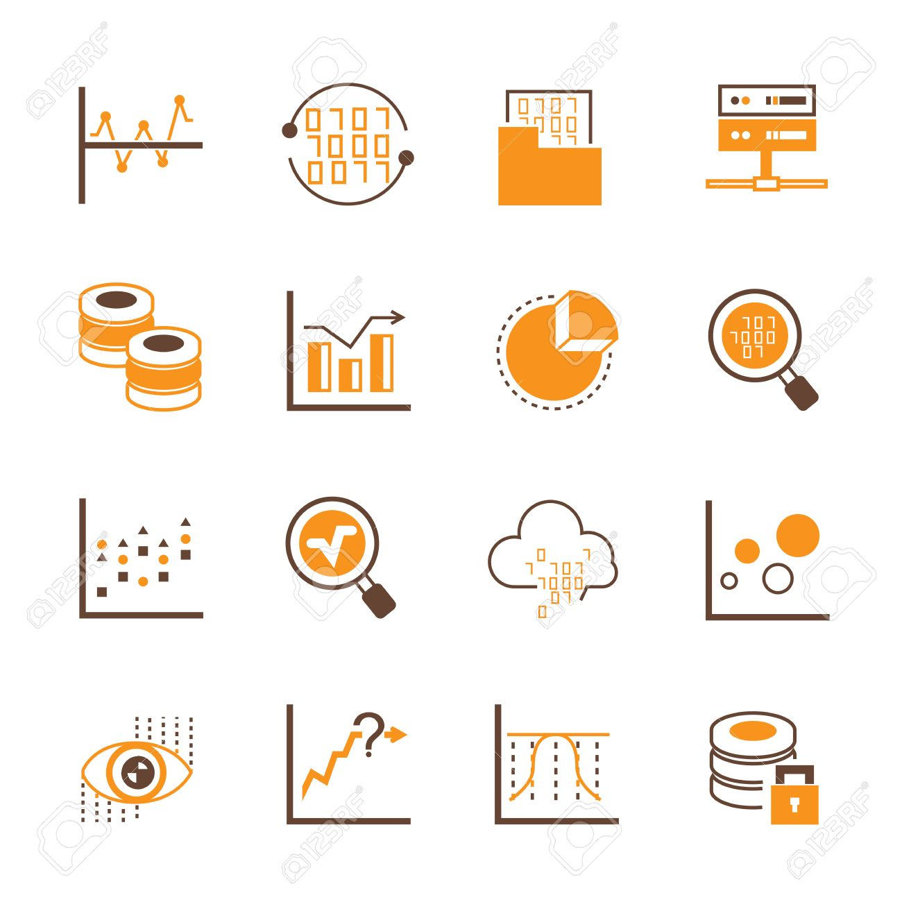 data analytics icons royalty free cliparts vectors and stock