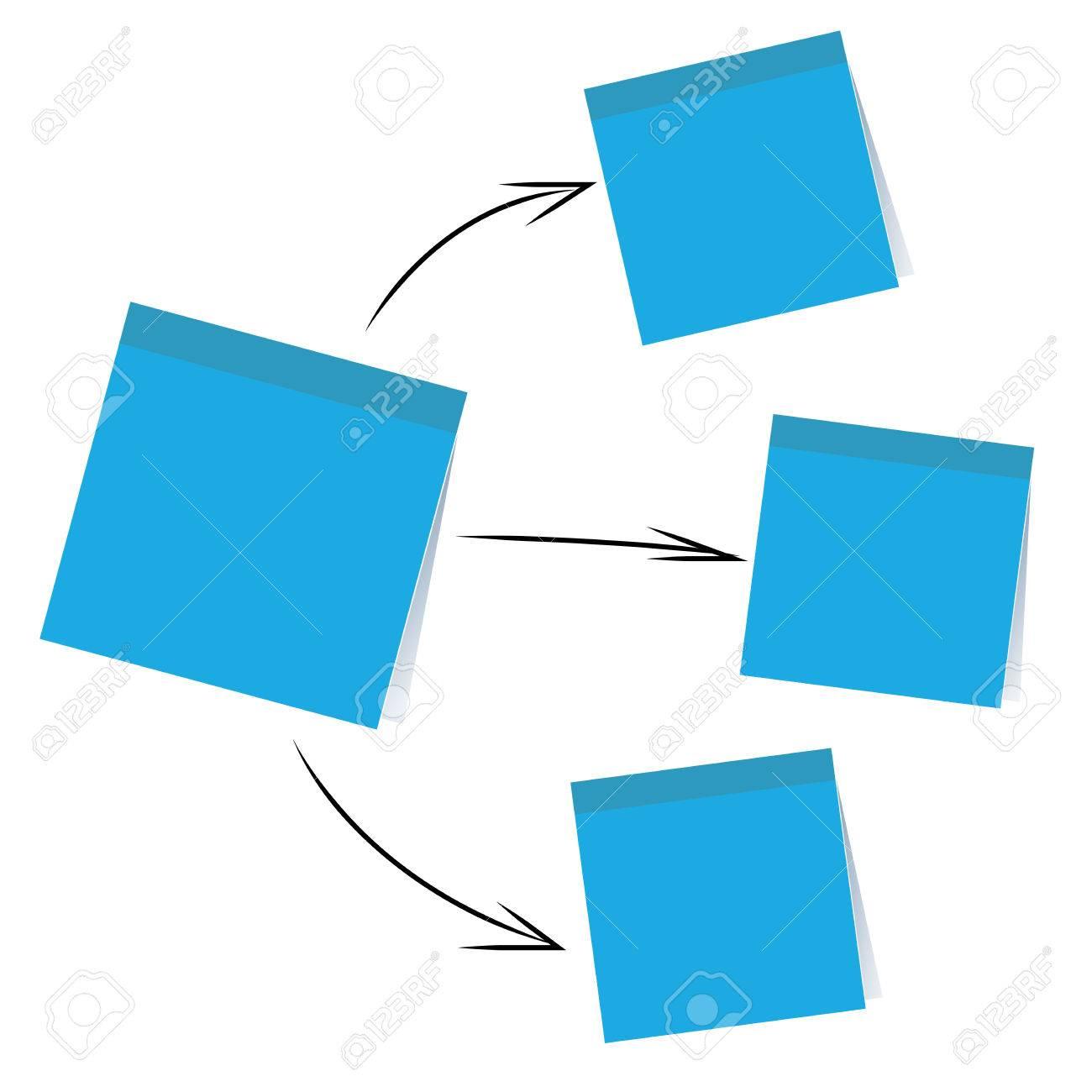 stick note paper chart - 45756126