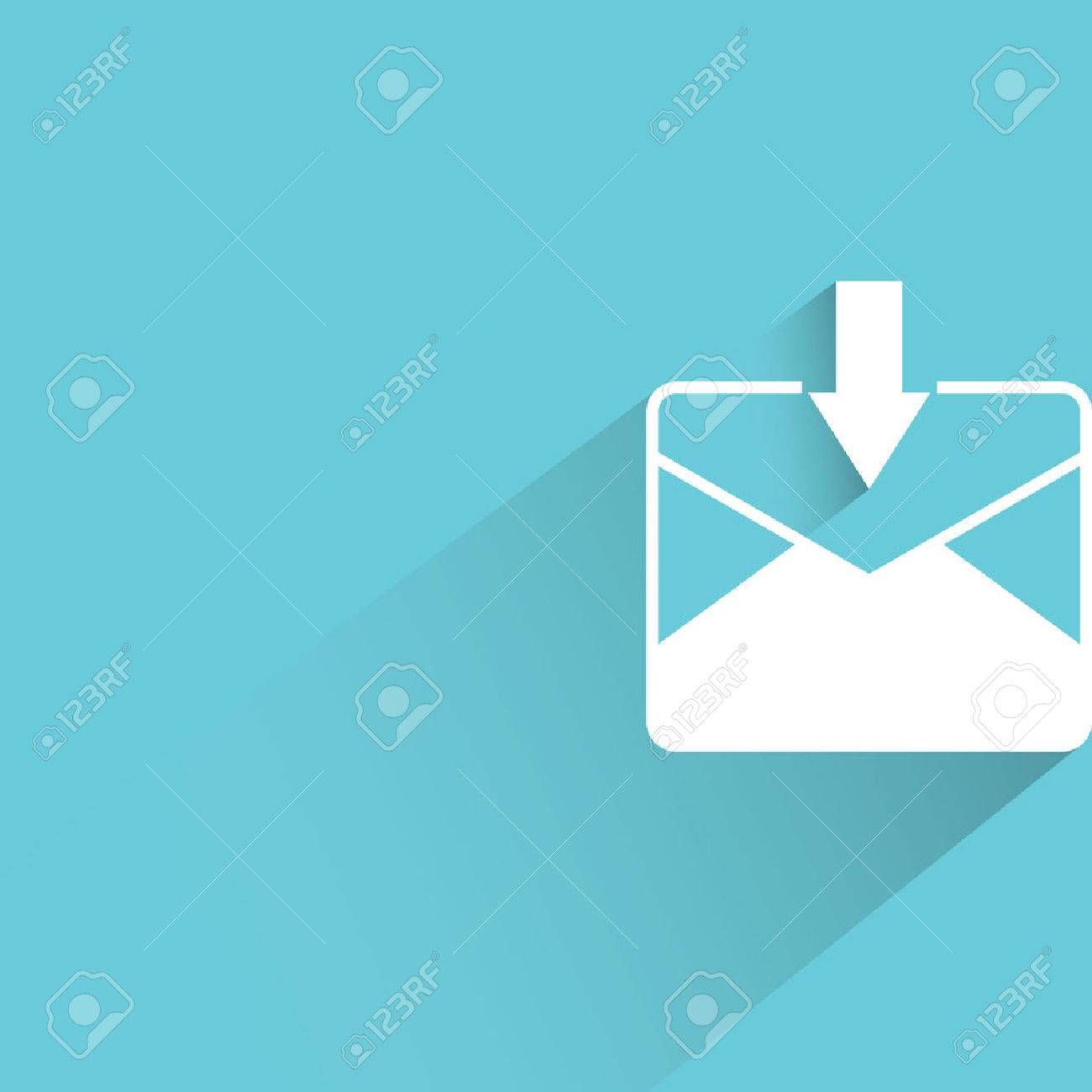 Background image email - Email Inbox On Blue Background Stock Vector 46919774
