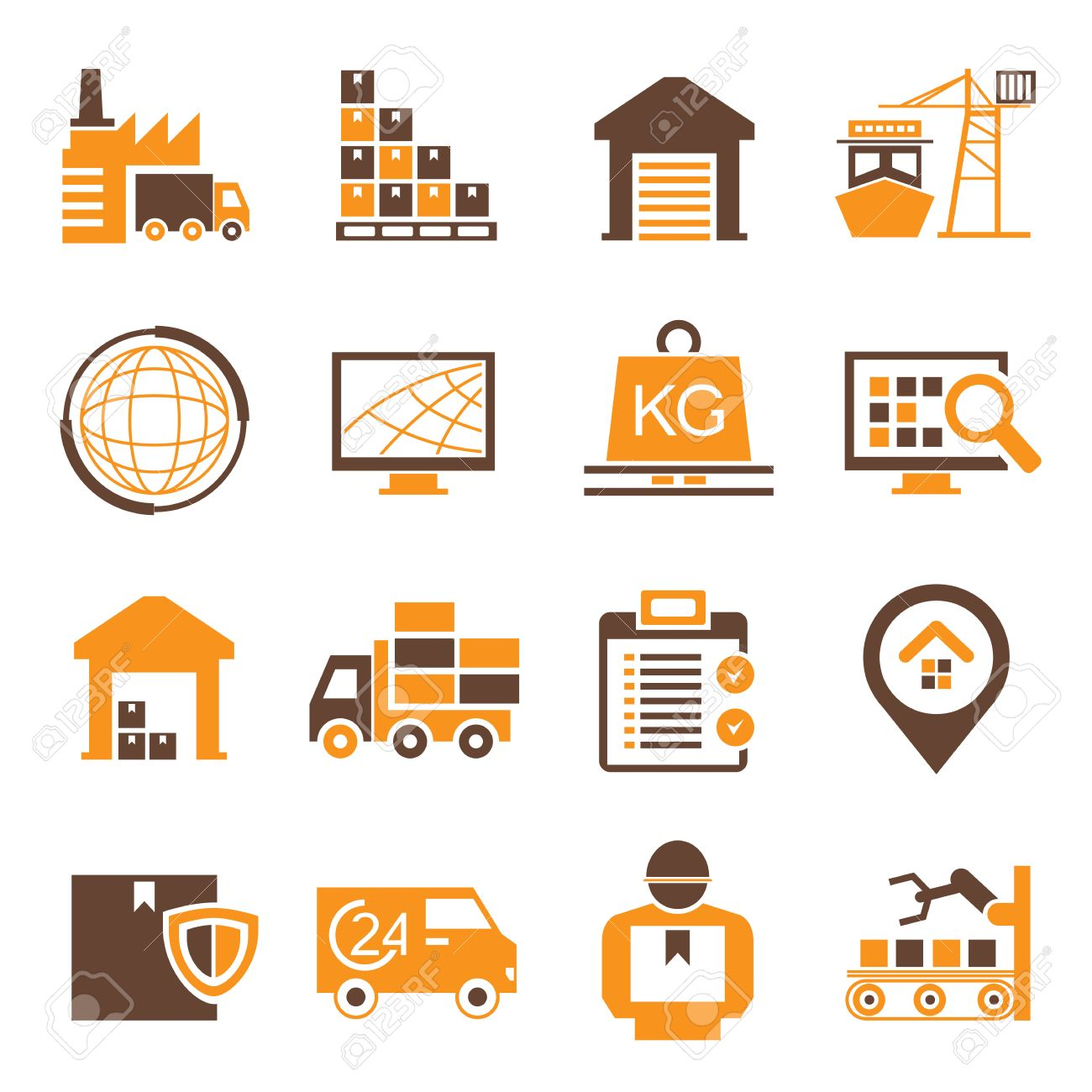 Supply Chain Icons Royalty Free Cliparts Vectors And Stock