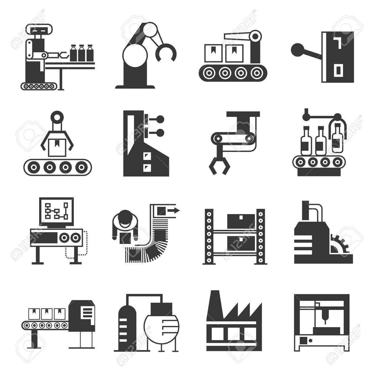 robot and manufacturing icons - 50960441