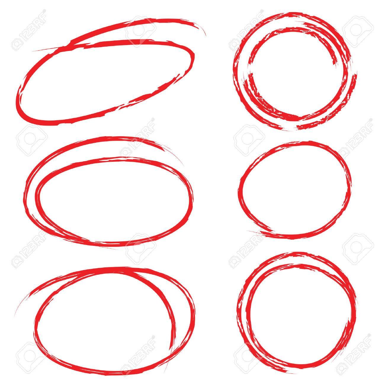 赤い強調表示円セット ロイヤリ...