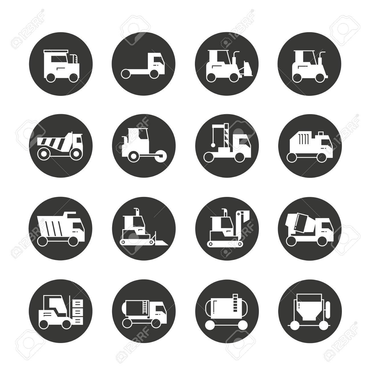 Construction Equipment Icons Royalty Free Cliparts Vectors And