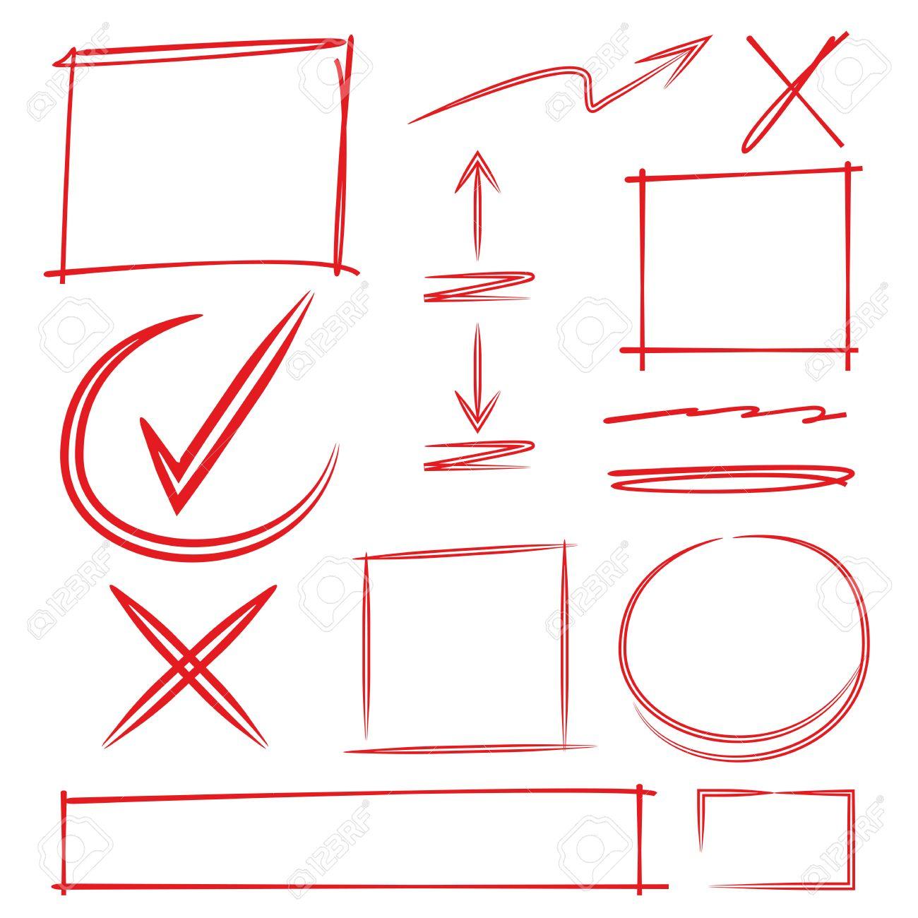 Control, Marca, Diagrama, El Subrayado, Resaltado, Dibujado, Mano ...
