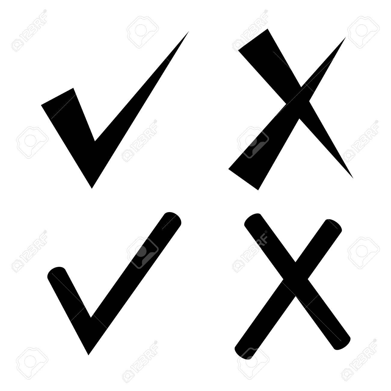 check mark and wrong mark