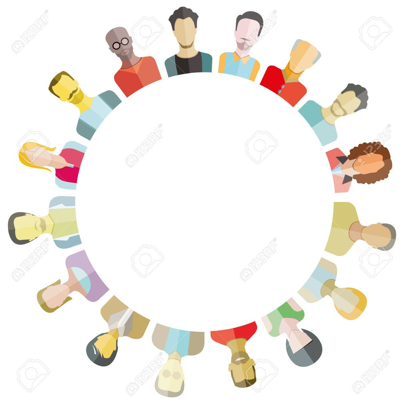 People around circle form and blank in center for text royalty free people around circle form and blank in center for text stock vector 76822275 falaconquin