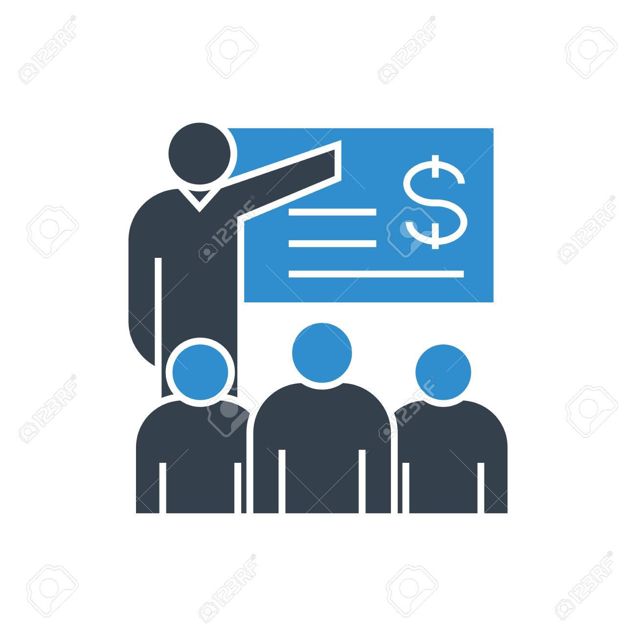 financial training concept icon - 122803169