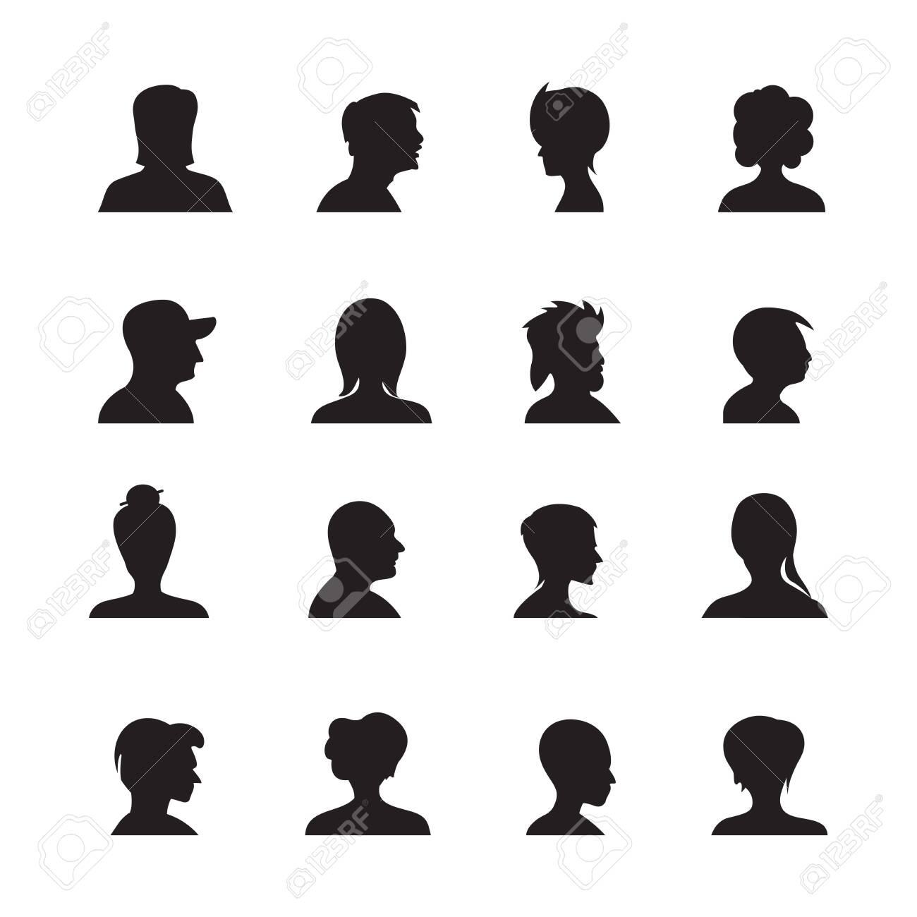 set of people avatars silhouettes, profile icon - 142323258