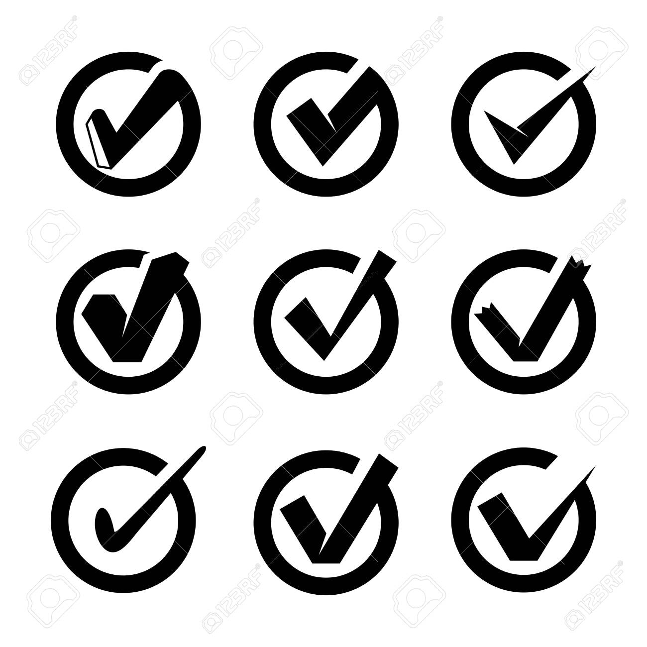 check list and tick symbols set - 148216089