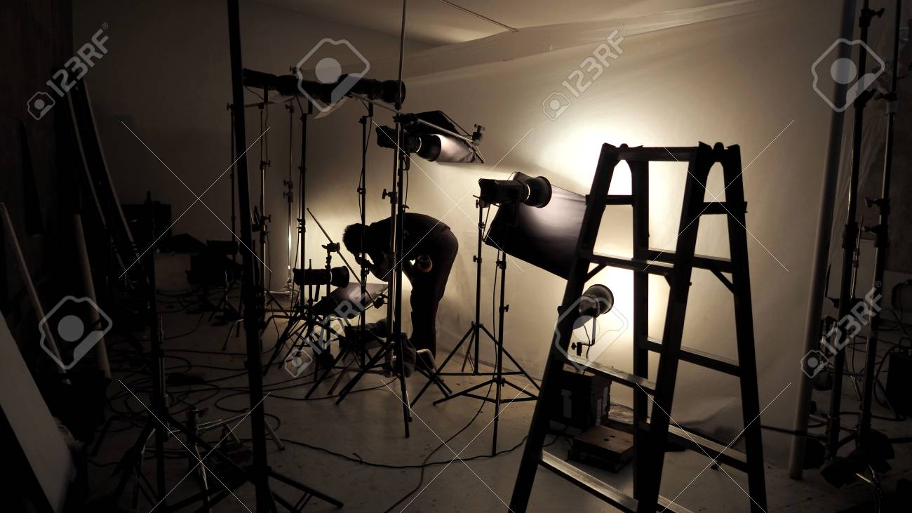 Lighting Setup In Studio For Commercial Works Such As Photo Movie