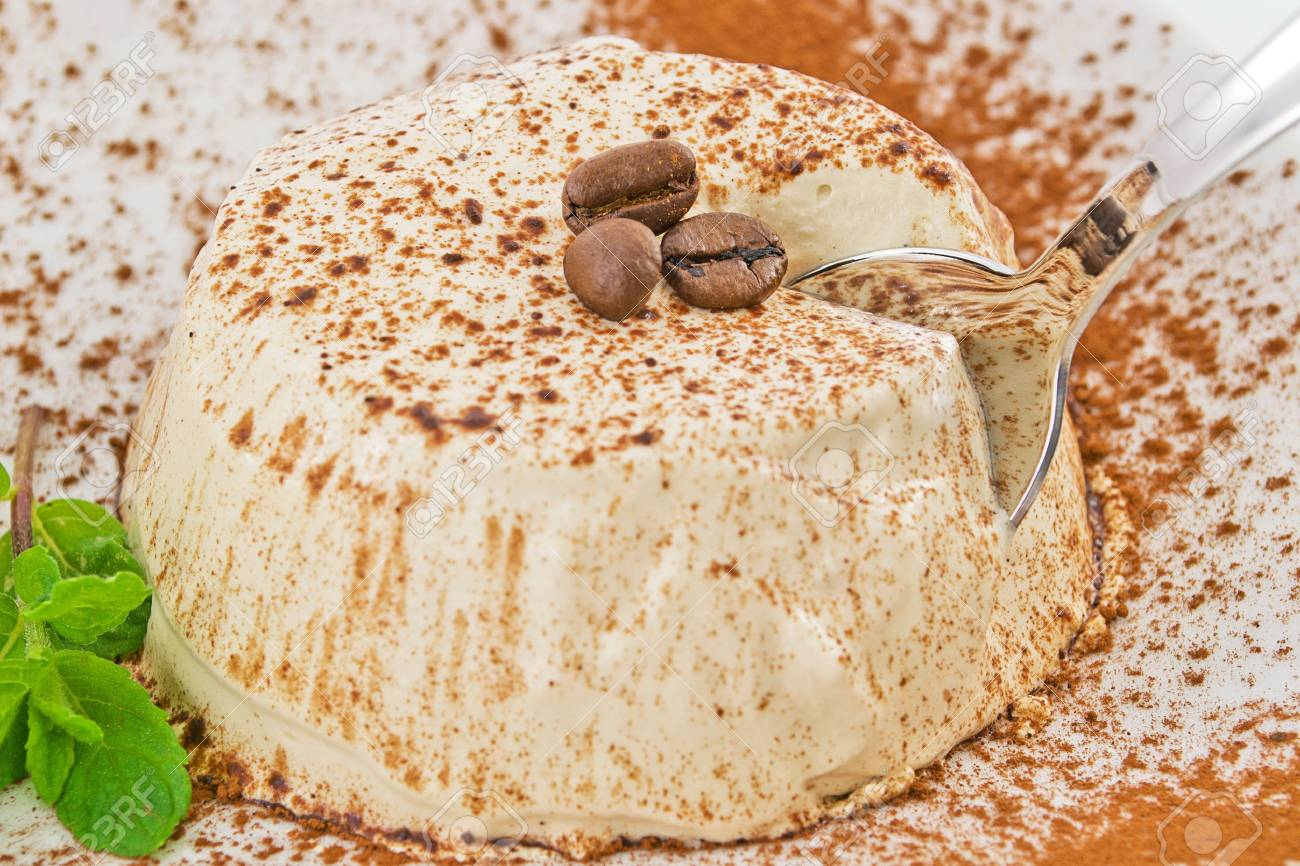 Coffee semifreddo pudding Stock Photo - 13617573
