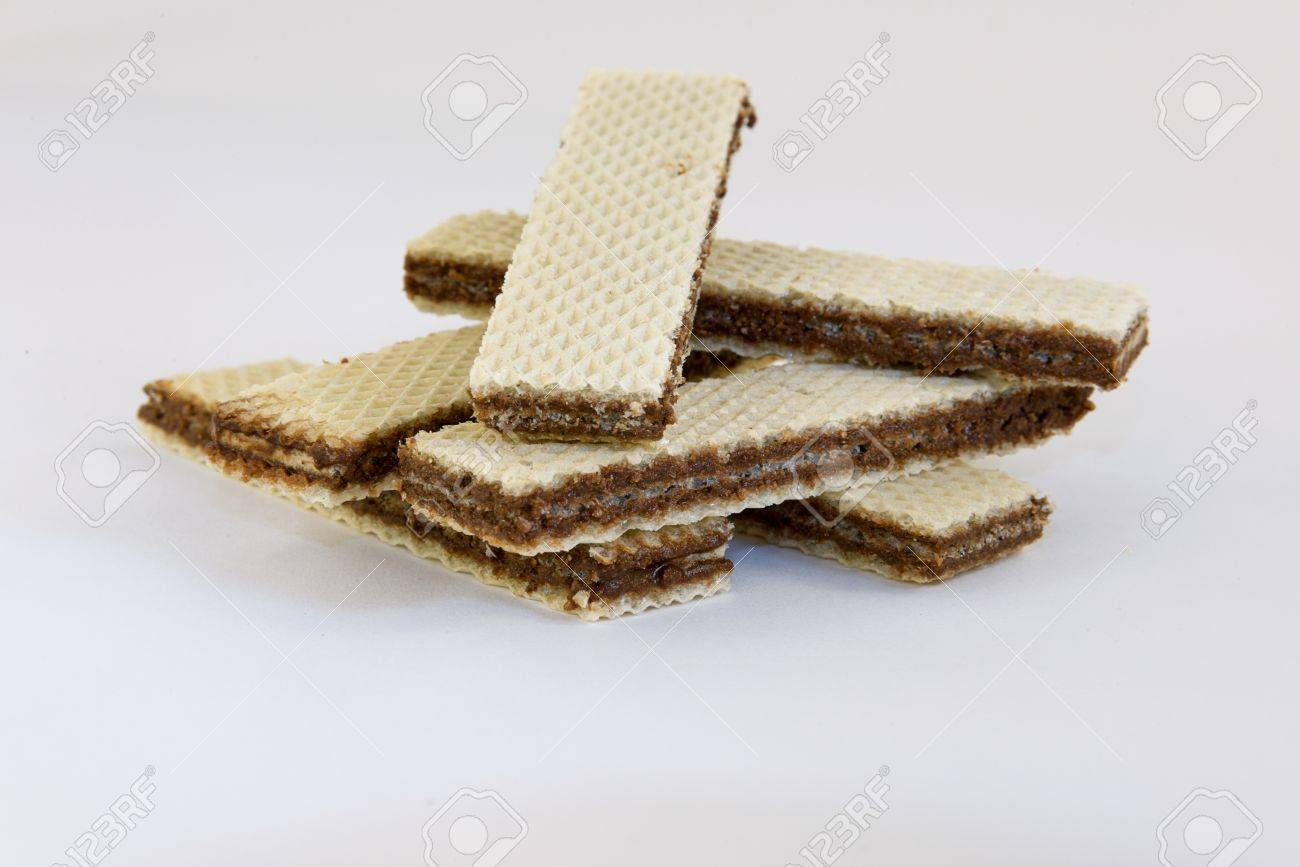 chocolate chip cookies- wafer Stock Photo - 14073659