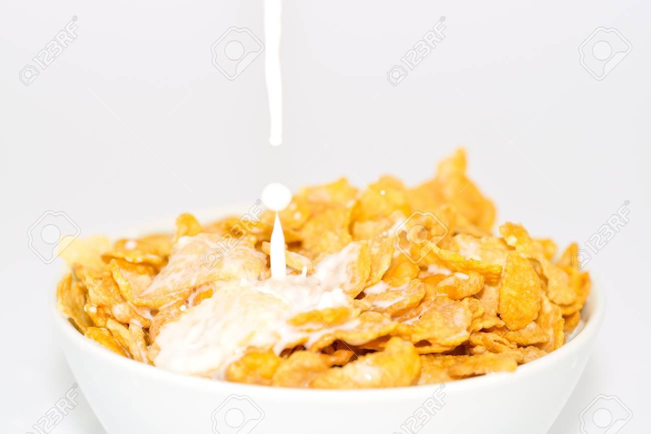 milk and cornflakes Stock Photo - 16449552