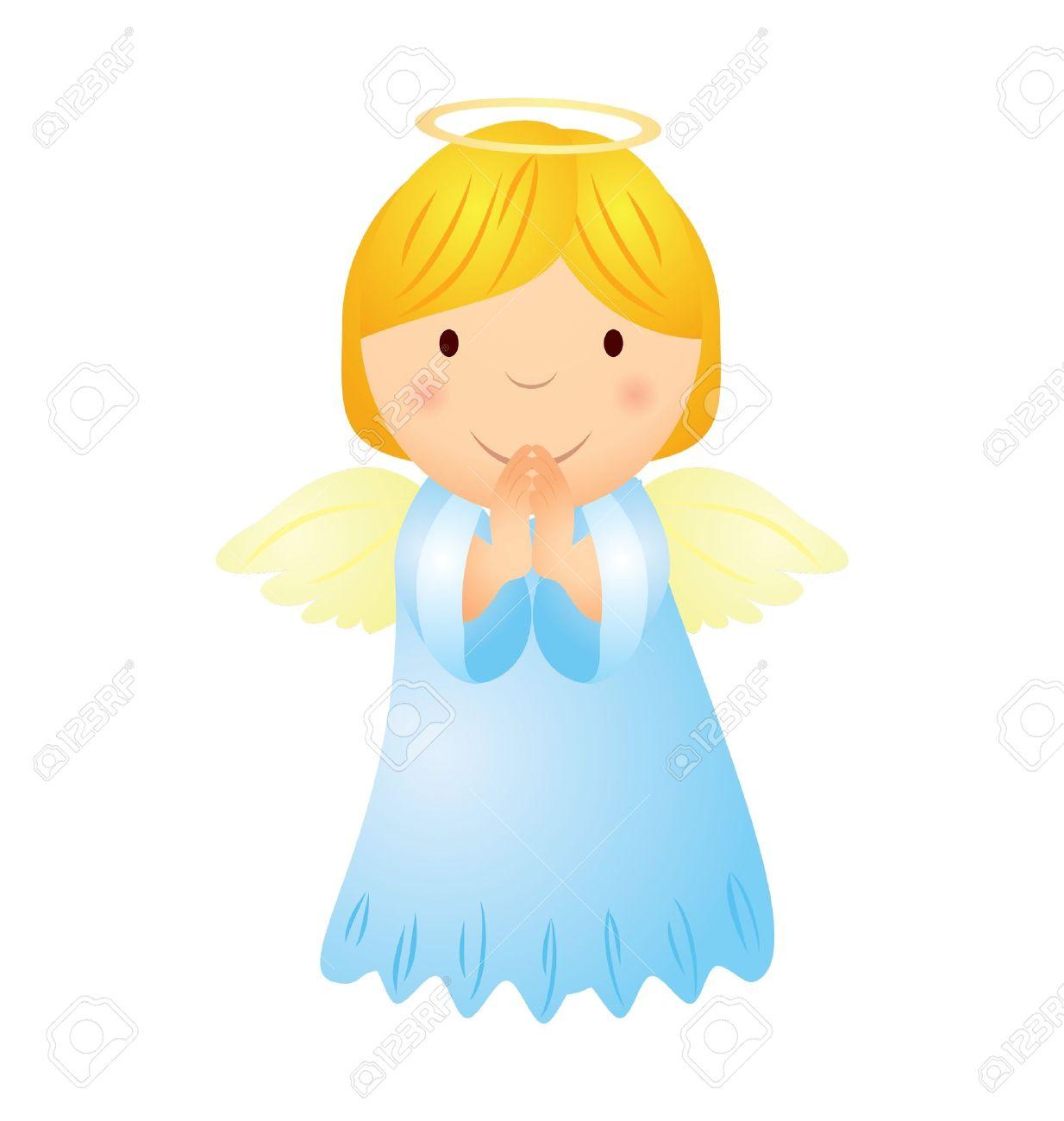 cartoon angel girl with magic wand Stock Vector - 11602628