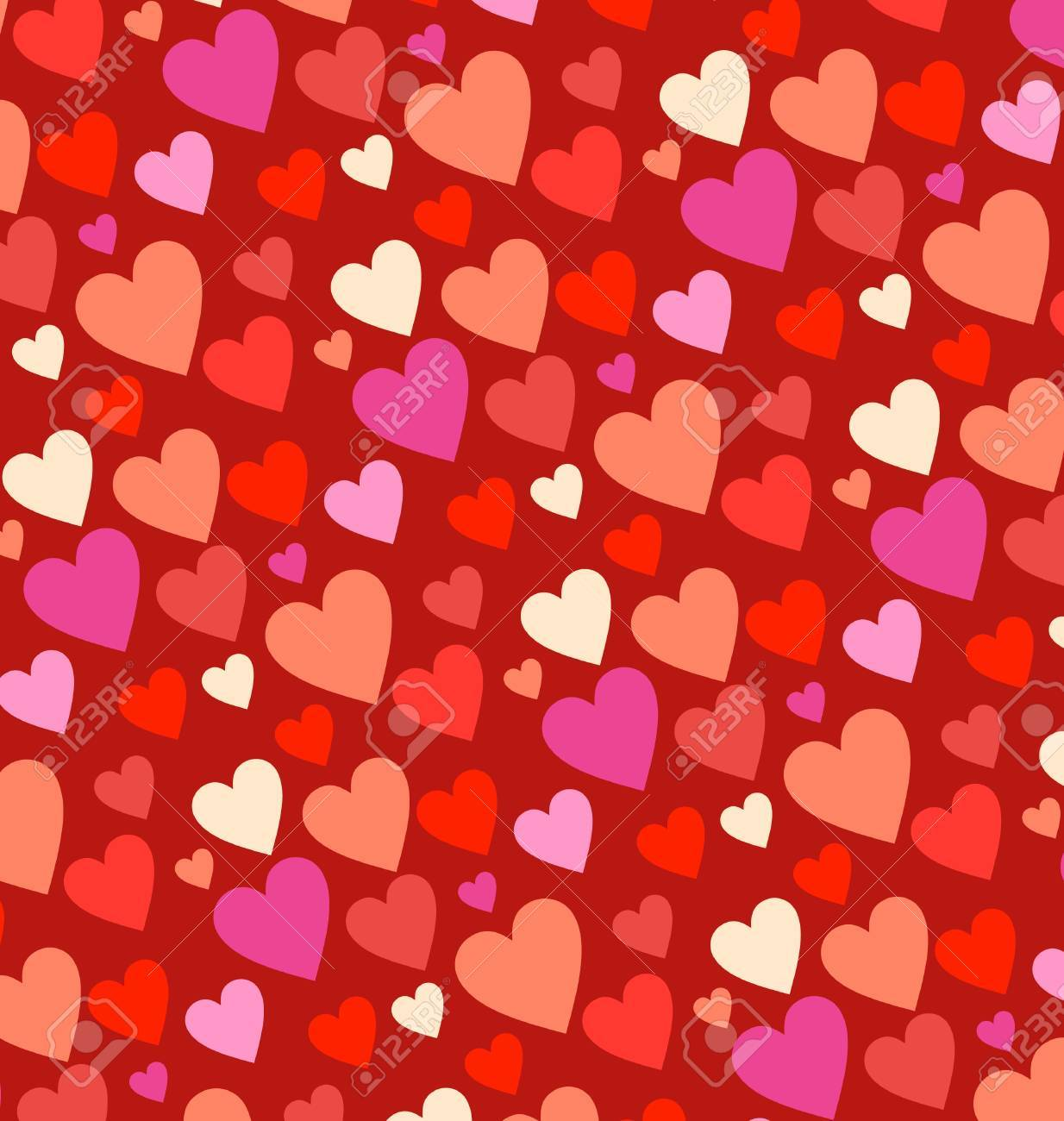 red hearts  background Stock Photo - 14815708