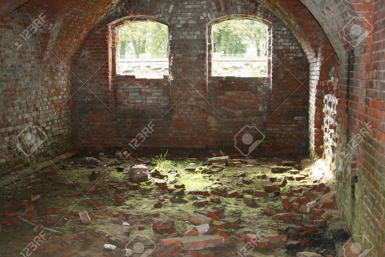 Ruins of the enormous military strengthening of the times World War II Stock Photo - 1729202