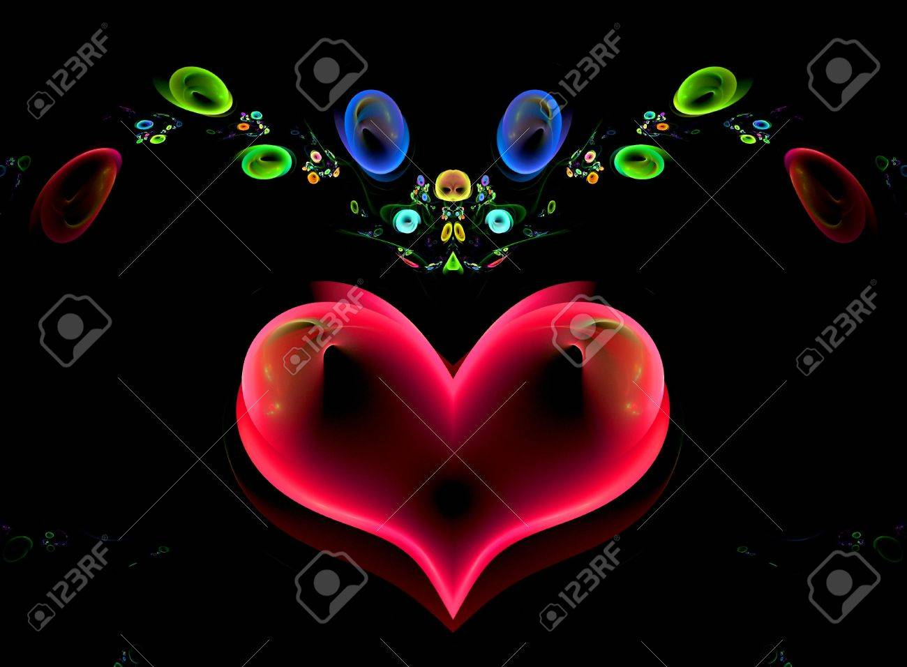 To the holiday of Sainted Valentine. Heart. Stock Photo - 6112319