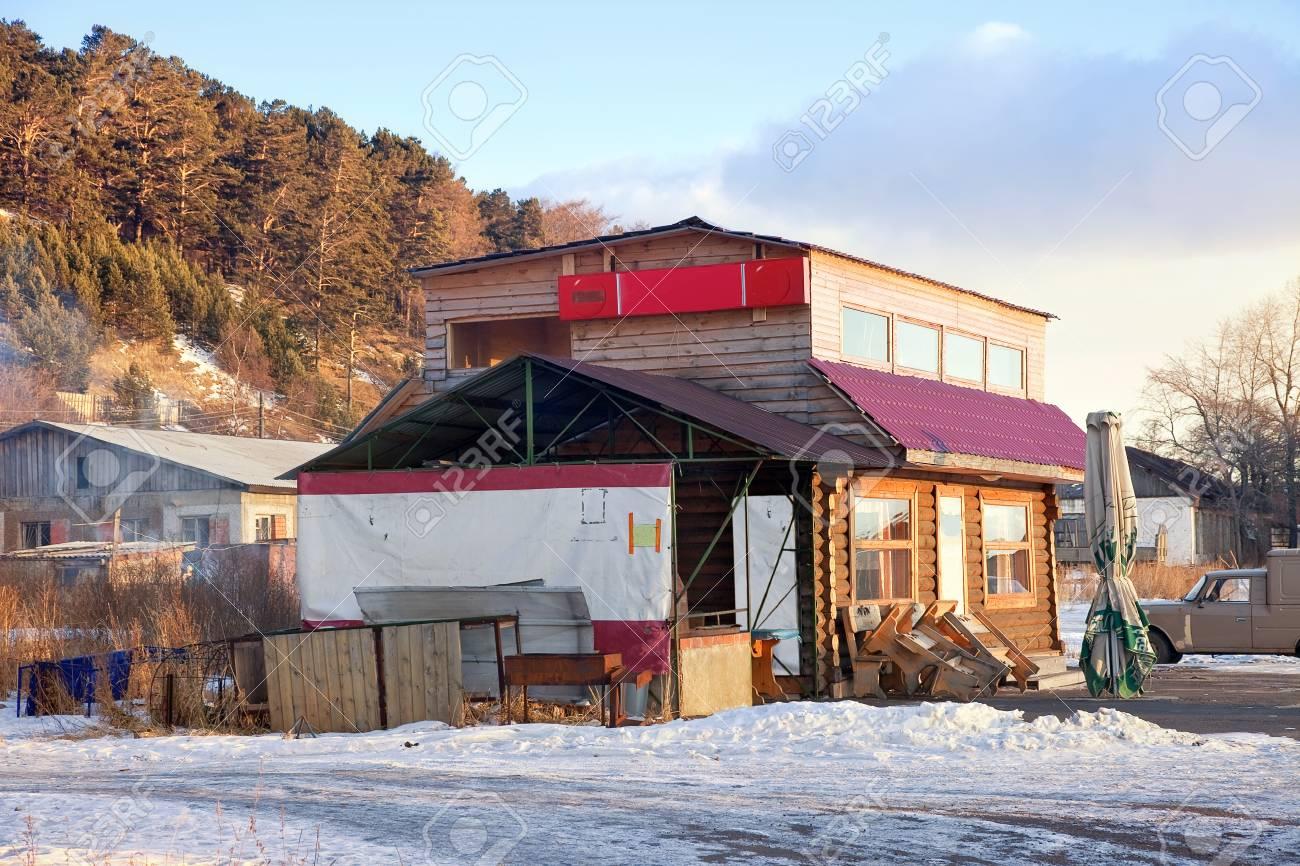 Settlement of Listvyanka  Cafe Stock Photo - 16782054