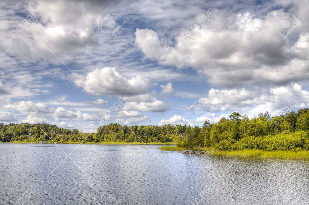 Island in lake Ladoga Stock Photo - 17990954