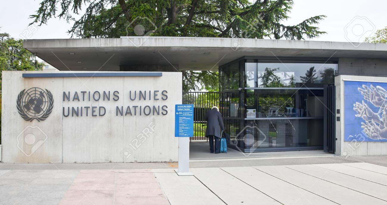 Suisse genève mai checkpoin dans le palais des nations