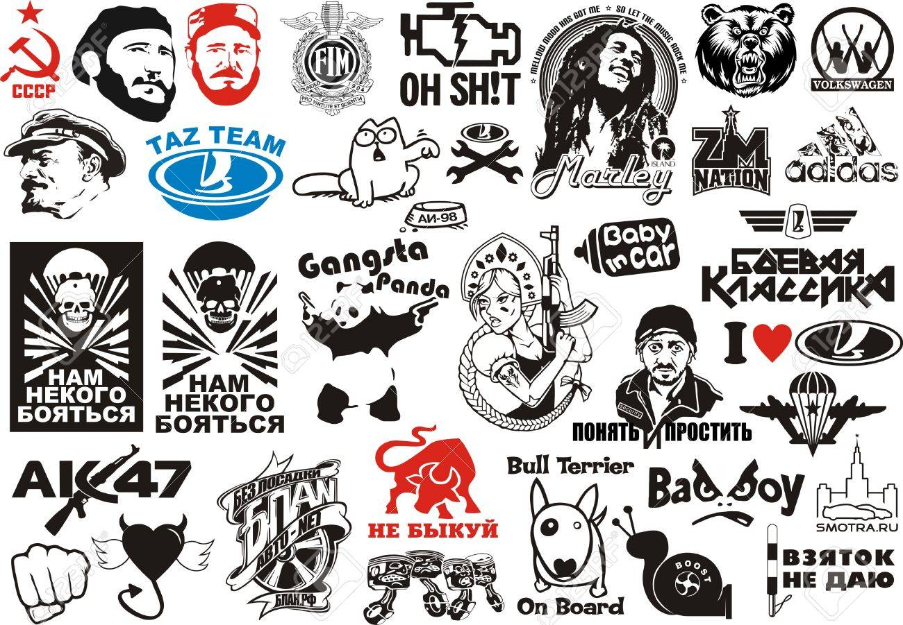 Vector vector clipart car stickers for plotter