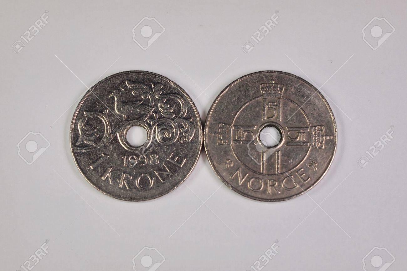 1 Norwegische Krone Münzen Lizenzfreie Fotos Bilder Und Stock