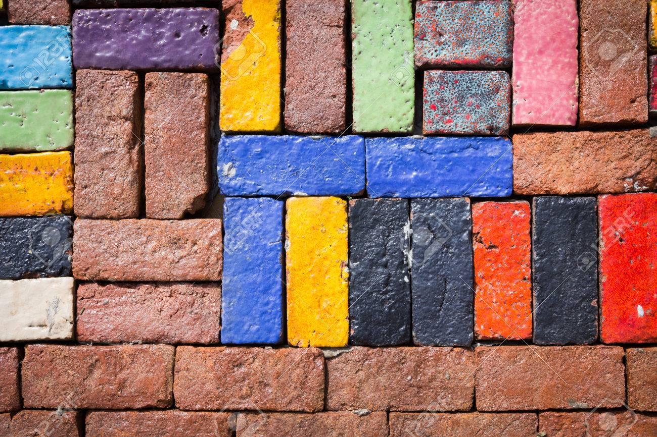 Colorful brick - 43342709