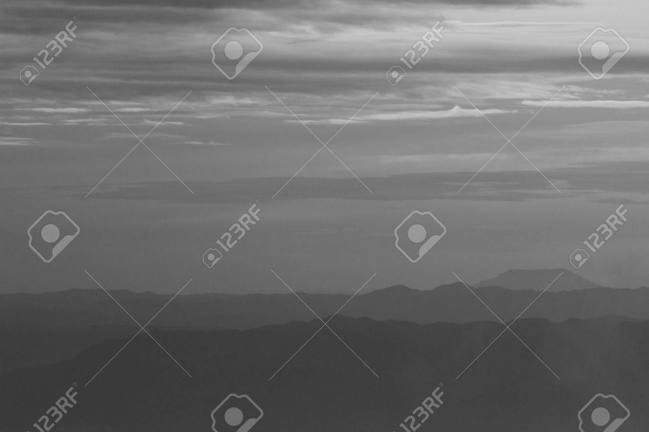 Mountain soft fog scenic sunrise morning at Phutabberk - 44554320