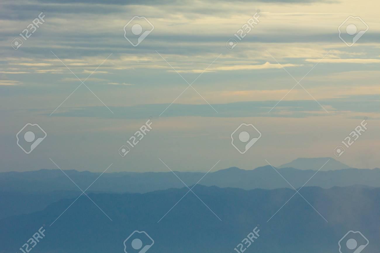 Mountain soft fog scenic sunrise morning at Phutabberk - 44554329