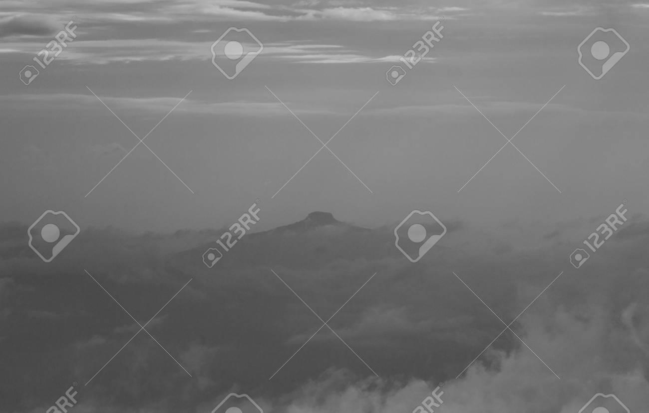 soft fog view background,mountain,Phu PA po,blackandwhite,gain - 44897634