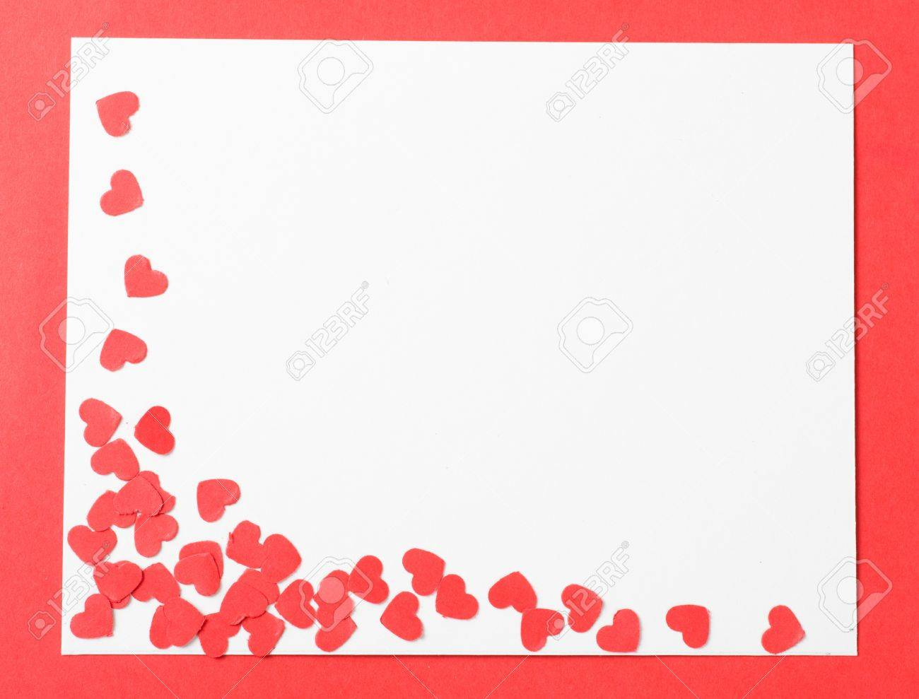 a empty love letter on valentine day with heart stock photo 17445566