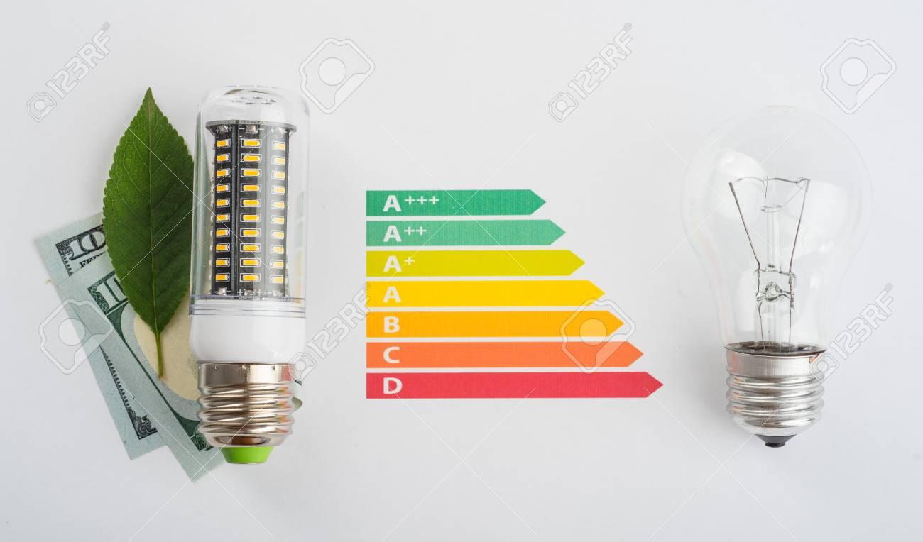 Et Est Led Argent Pour Économiser De Une L'argentConcept Économie À D'énergie EcoLedGraphique Lampe wnvy80mNO