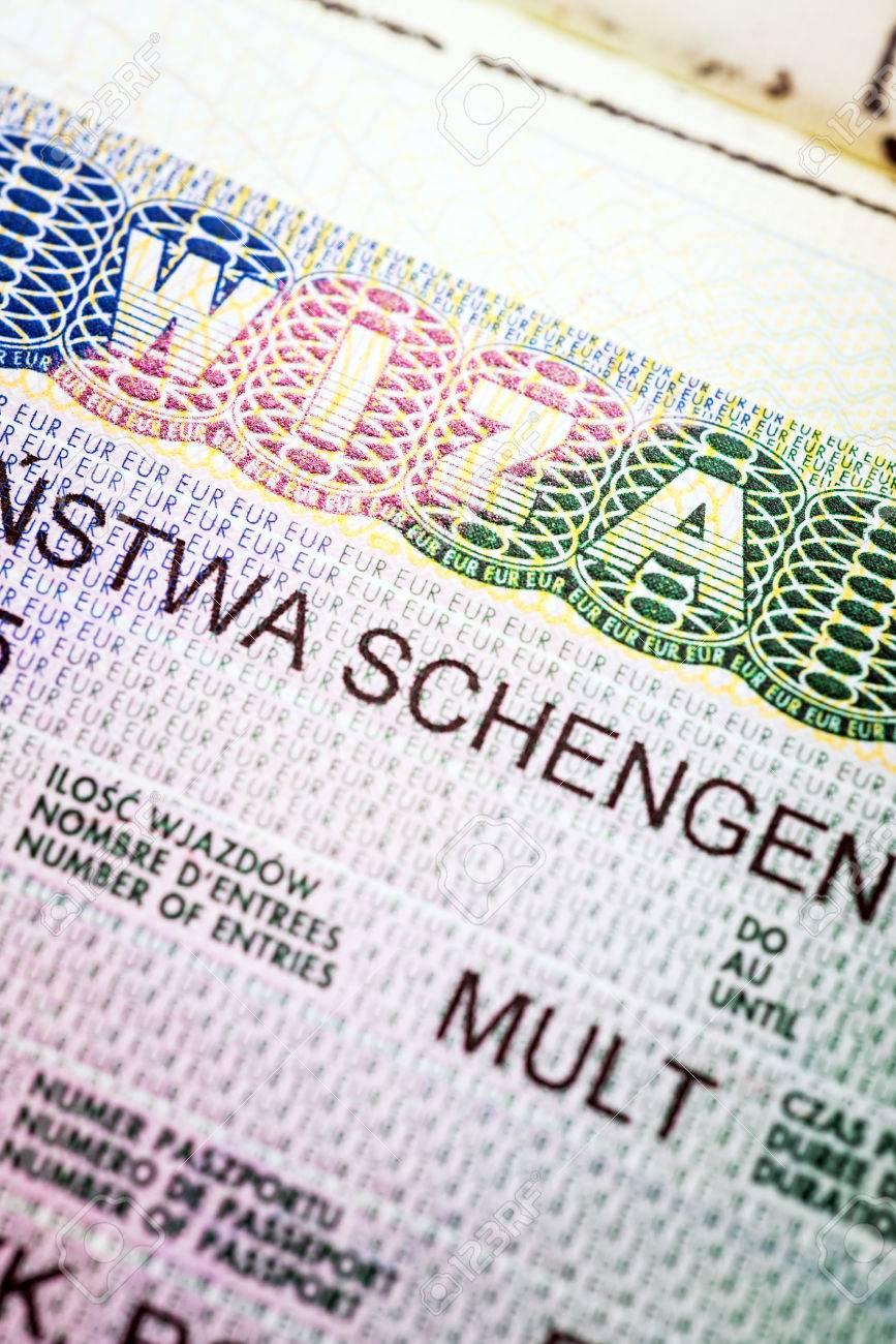 GroB Fragment Des Europäischen Multi Schengen Visums Standard Bild   75186356