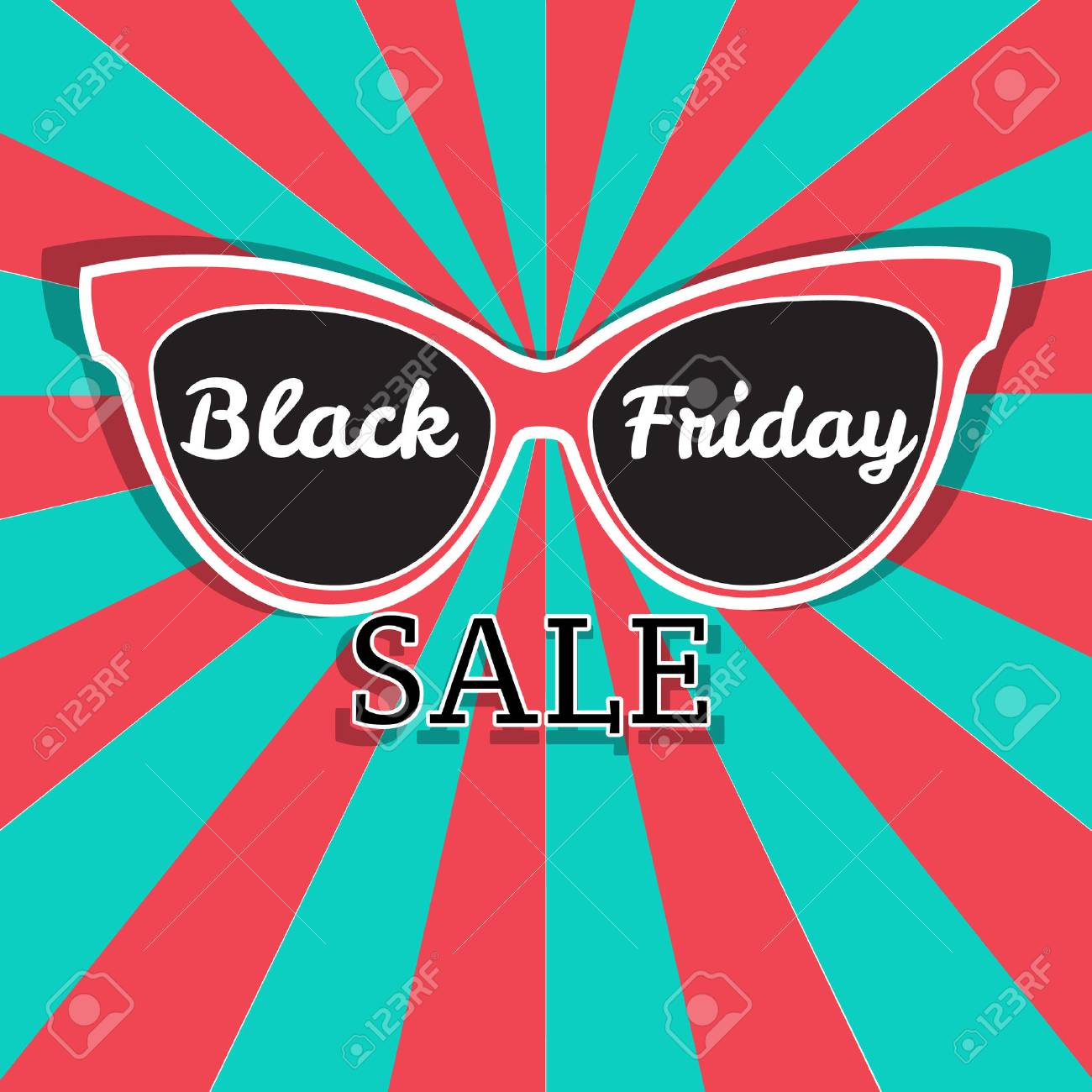 Sunglasses Black Friday Sale Vector Sale Poster Advertising Royalty Free Cliparts Vectors And Stock Illustration Image 45302531