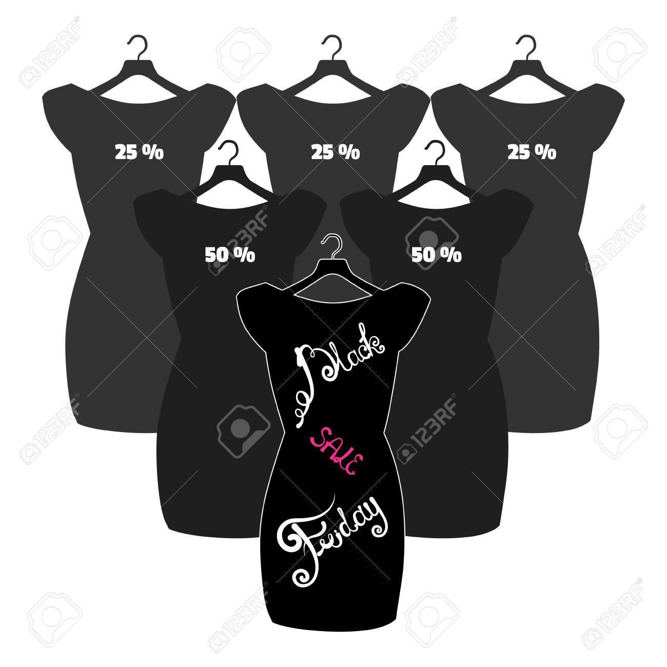 Black Affiche FridayFriday Lettrage À Vector Noire Petite Sur Icône Mode Robe La Y6fgb7vy