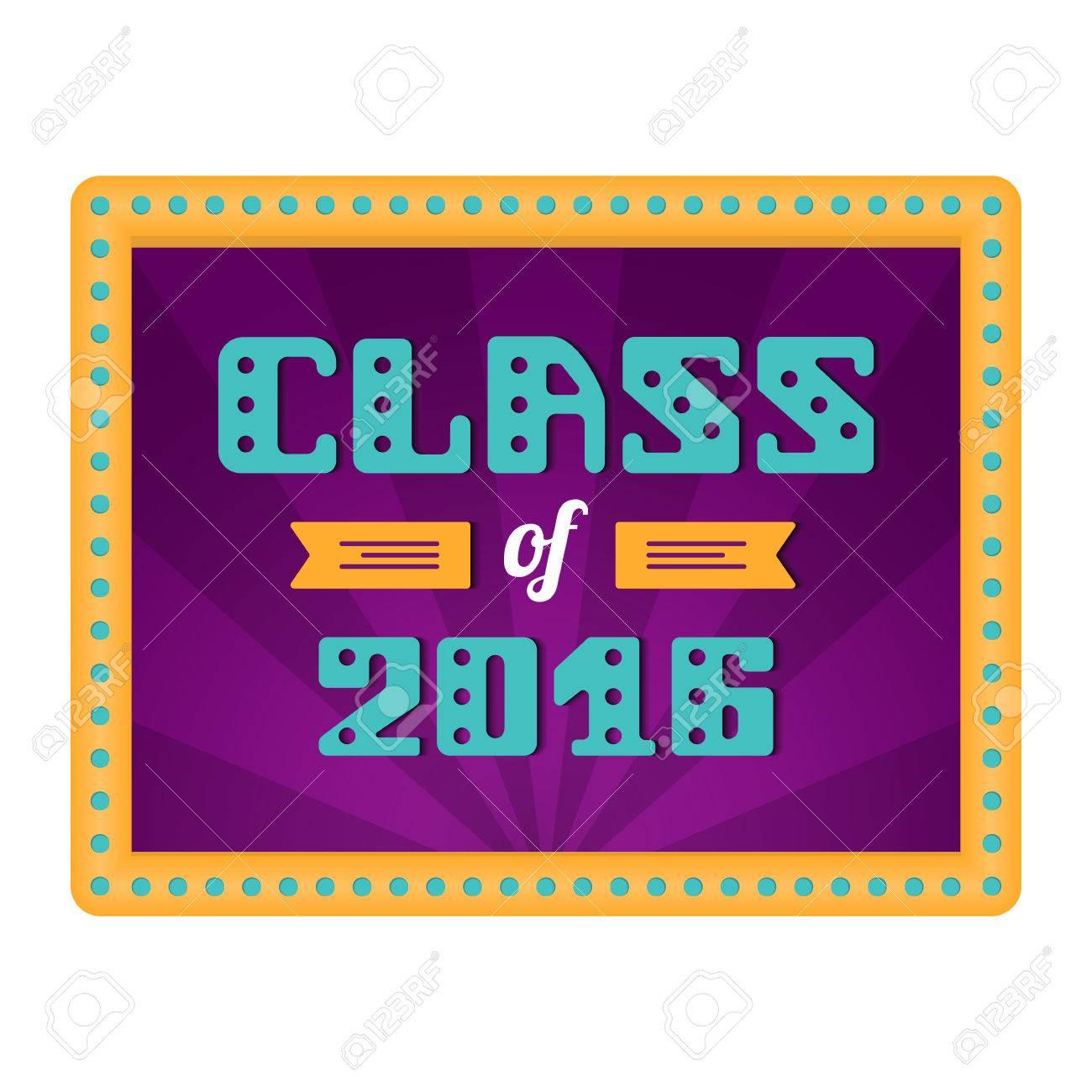 Class Of 2016 High School Graduate College Graduate Retro