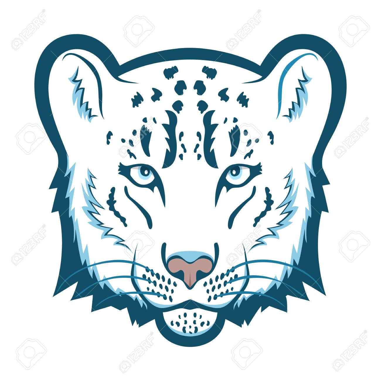 snow leopard logo mascot snow leopard head isolated vector rh 123rf com snow leopard clip art free
