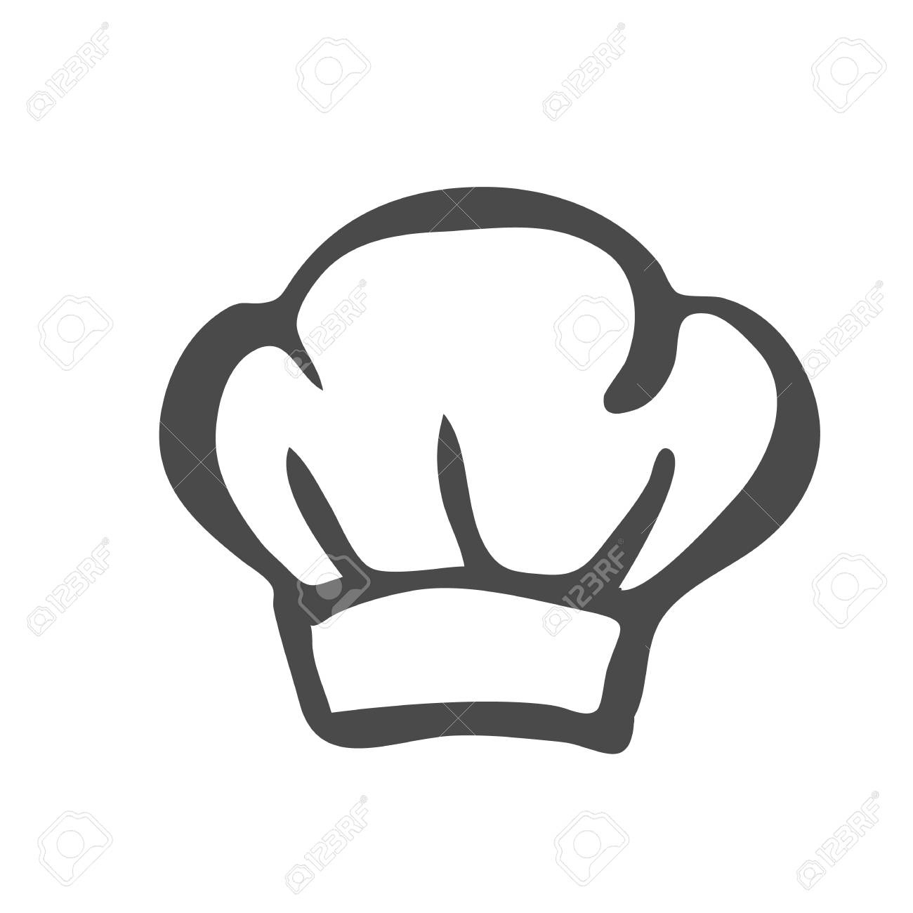 chef hat silhouette isolated black hat chef cook for logo royalty rh 123rf com Chef Cooking Clip Art Chef Hat Silhouette
