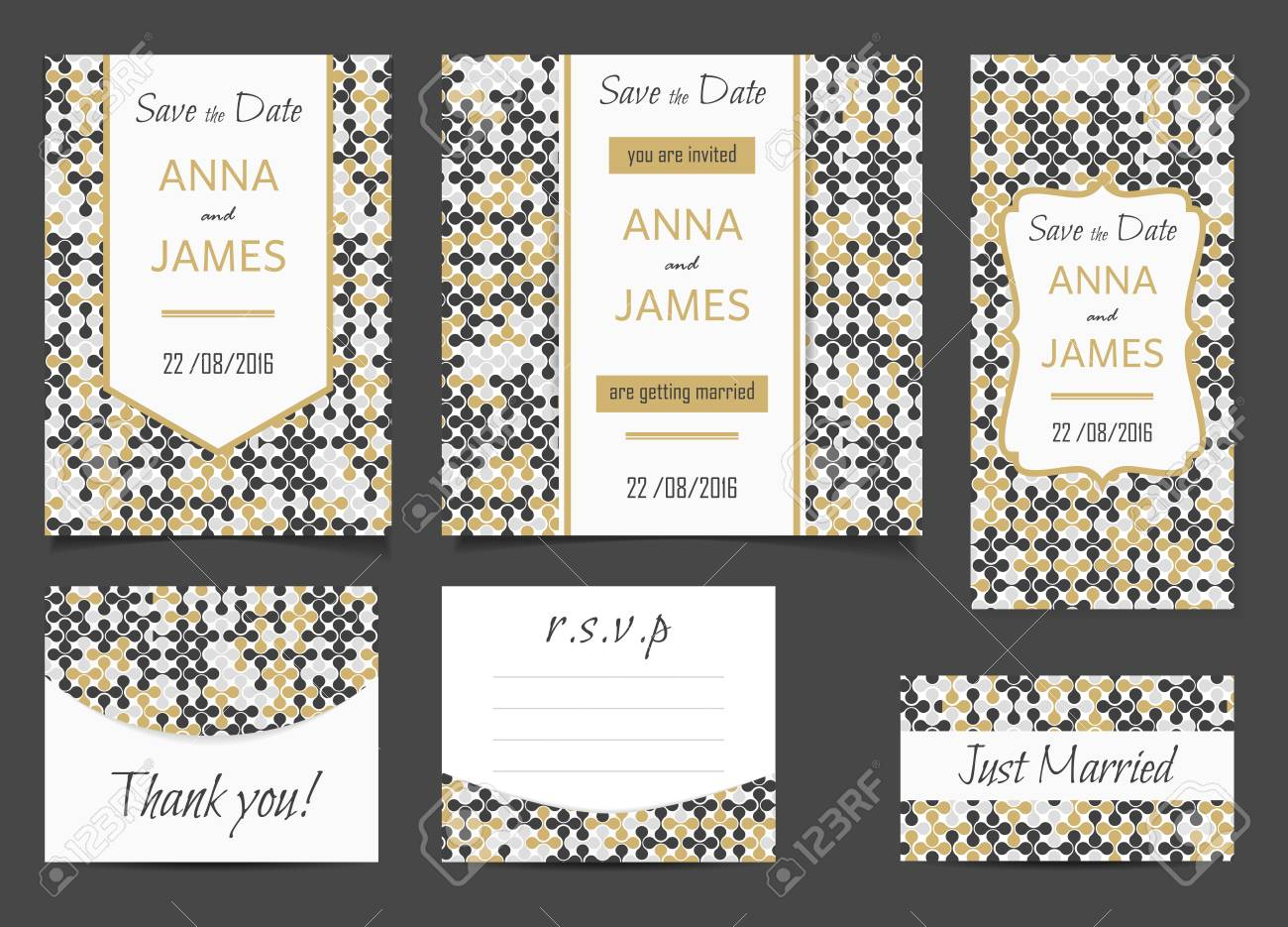 Beautiful Wedding Set Of Printed Materials With A Abstract Design ...