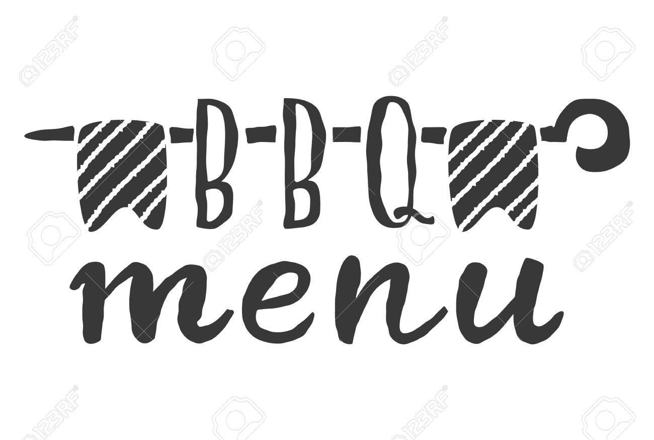 Barbecue-Menü-Label, Logo Und Emblem Vektor-Vorlagen Isoliert Auf ...