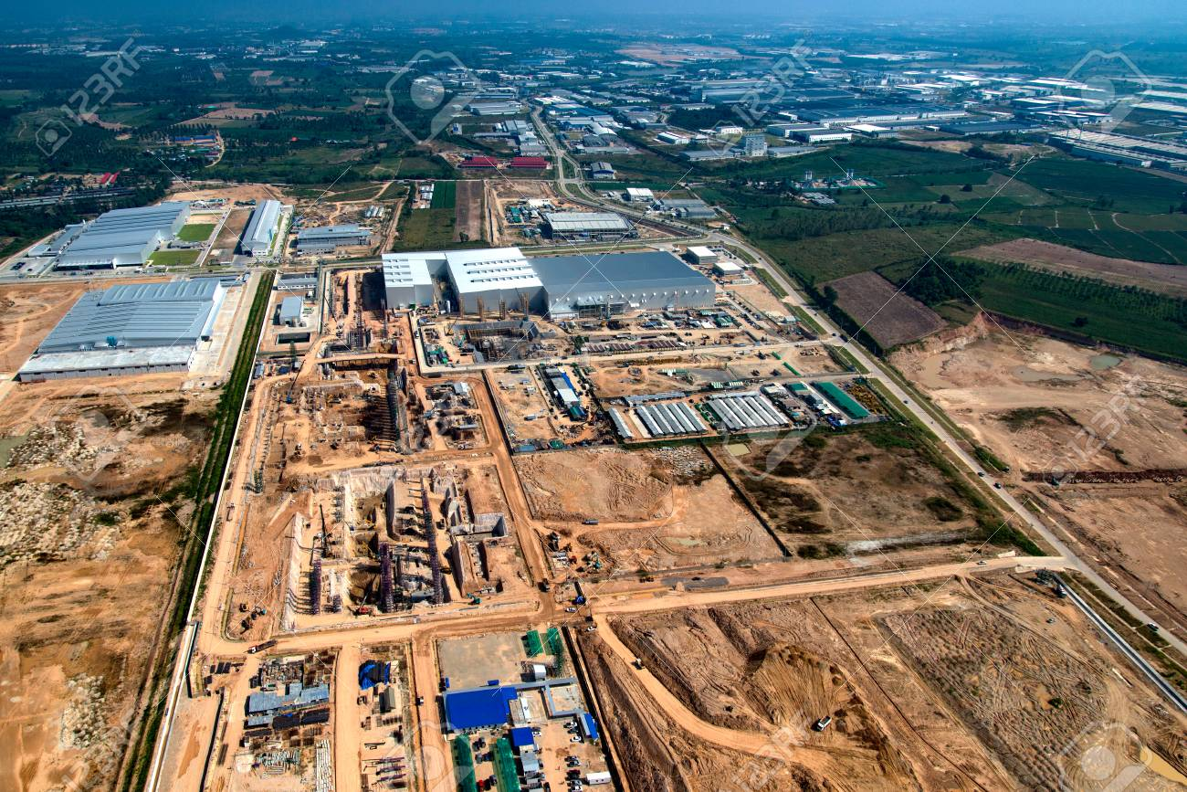 Industrial Estate Land Development Earthmoving and Construction, Thailand - 77649422
